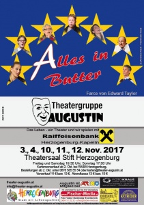 "Flyer ""Alles in Butter"" Theatergruppe Augustin"
