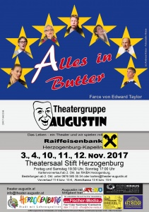 "Theatergruppe Augustin Flyer ""Alles in Butter"""